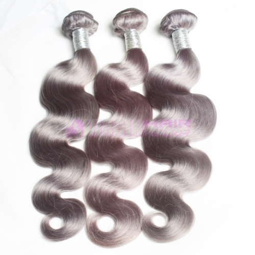 New fashion tangle free wholesale unprocessed virgin hair grey human hair weave