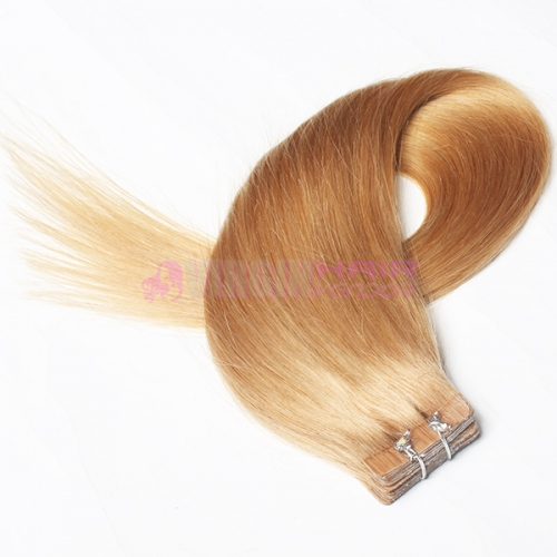Charming 27# Color 100% Brazilian Remy Tape In Hair Skin Weft