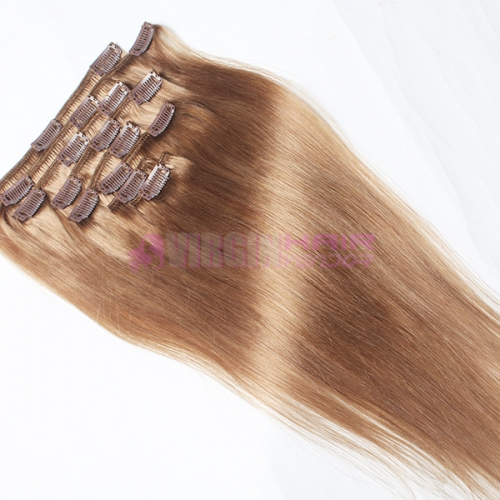 Human Hair Weft 18-24 inch Remy Clip in Hair Extension