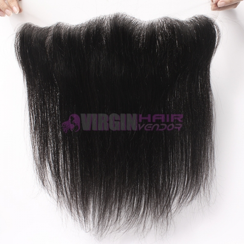 Good grade 13*4 frontal lace closure silk straight brazilian hair