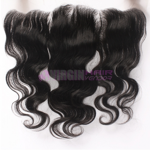 Virginhairvendor  13*4 Frontal lace closure with bundles natural color