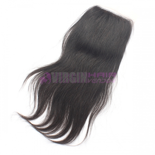 8-18 Inch Good Gade 4x4 inch Silk Base Lace Closure Straight Free part & Middle part three part